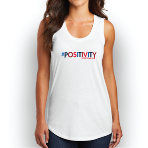 Women's #POSITIVITY Large Logo Tank Top