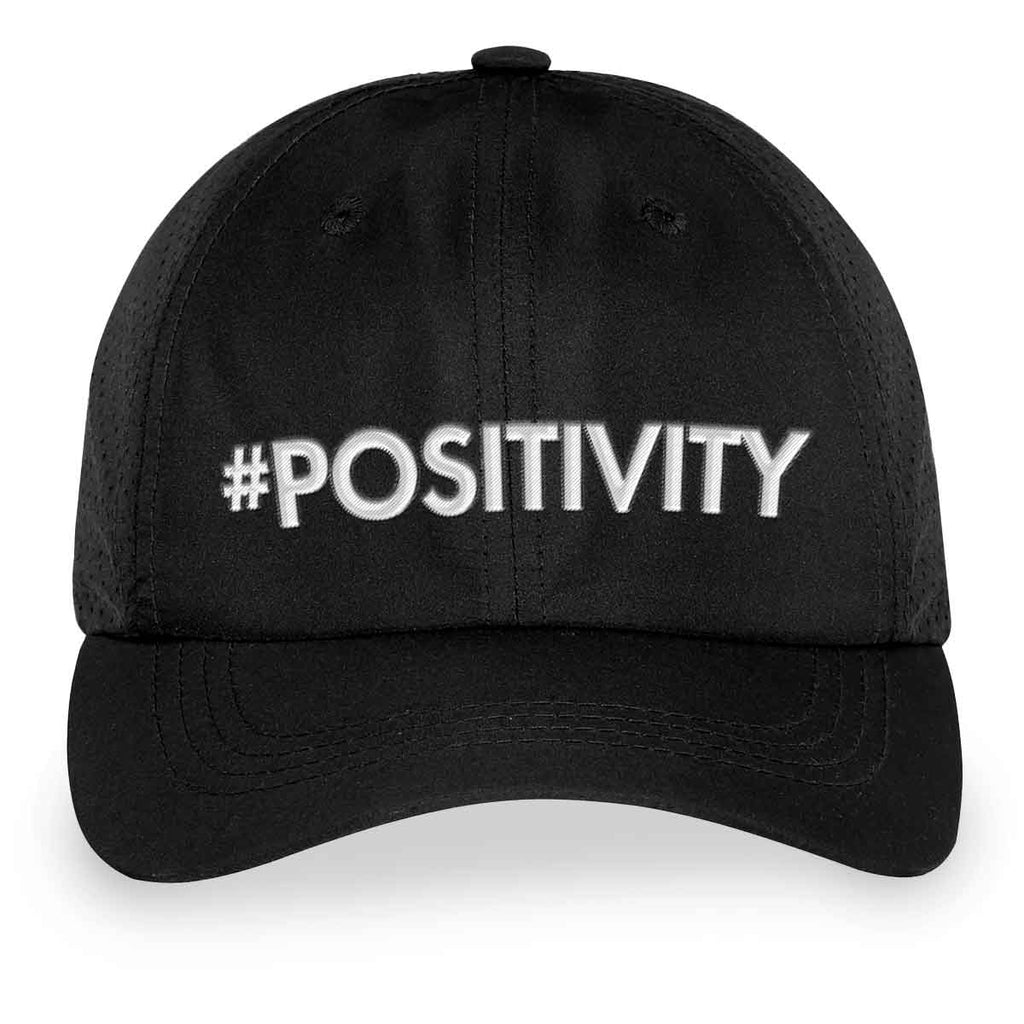 #POSITIVITY Black Velcro Back Hat