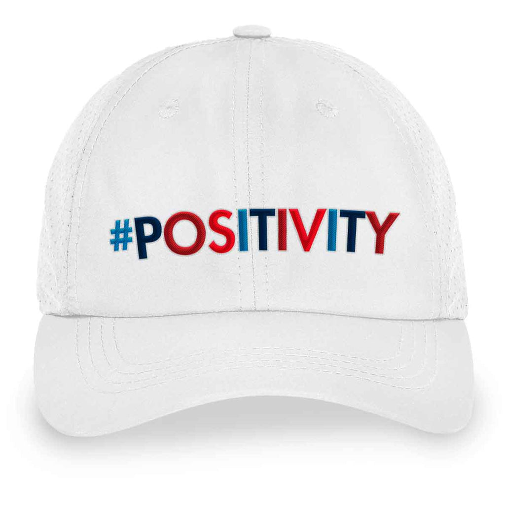 #POSITIVITY White Velcro Back Hat