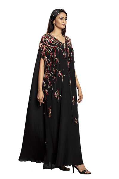 Black/multi kaftan
