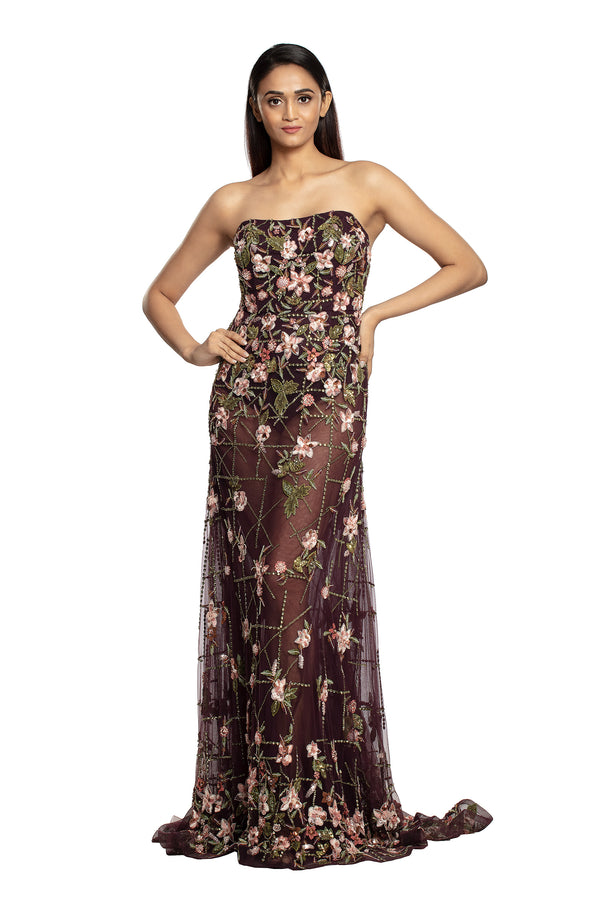 Wine tube gown