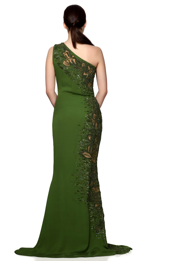 Lizard cut-out gown
