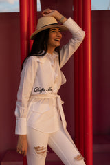 Daffa ho trench shirt with detachable belt