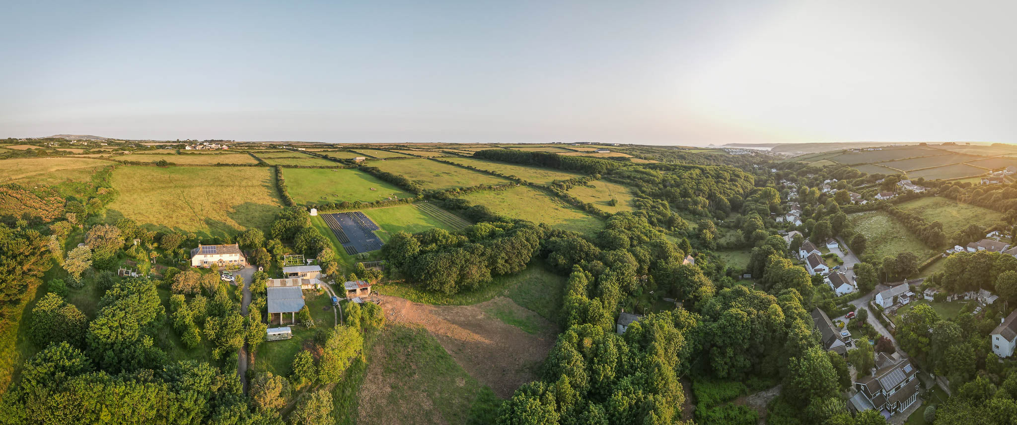aerial property photography cornwall