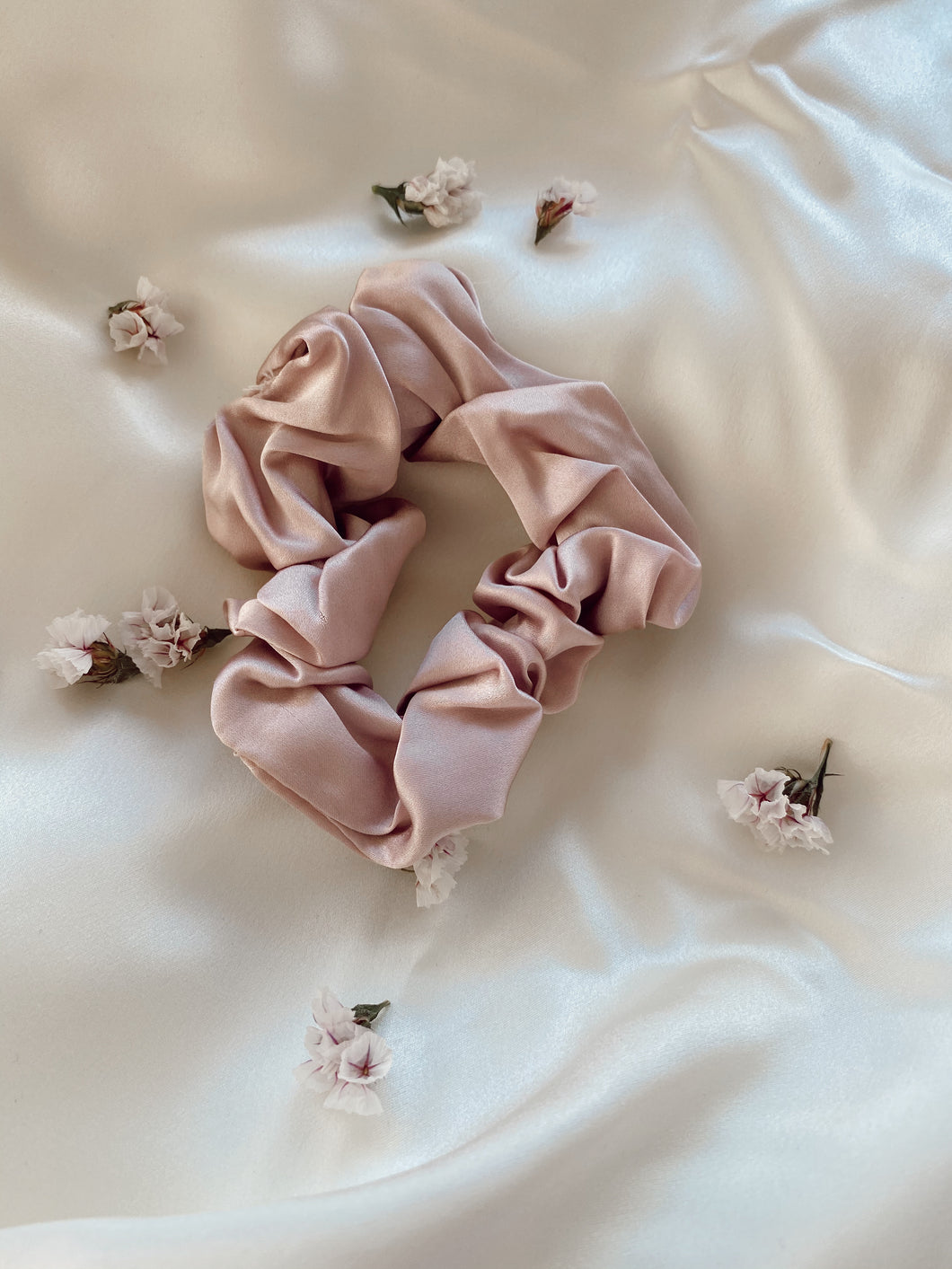 Cloud Silk Scrunchie