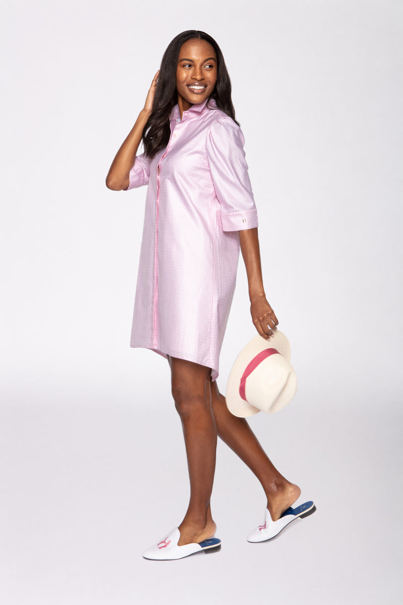 Tracy Dress in Pink & White Check