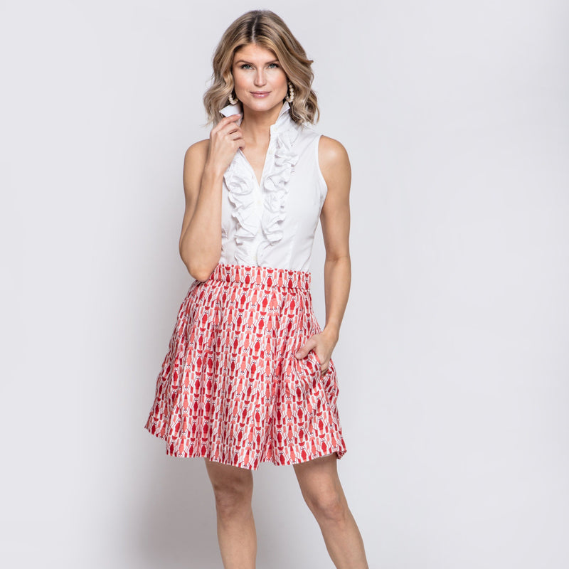 Eleanor Skirt in Lobster Print