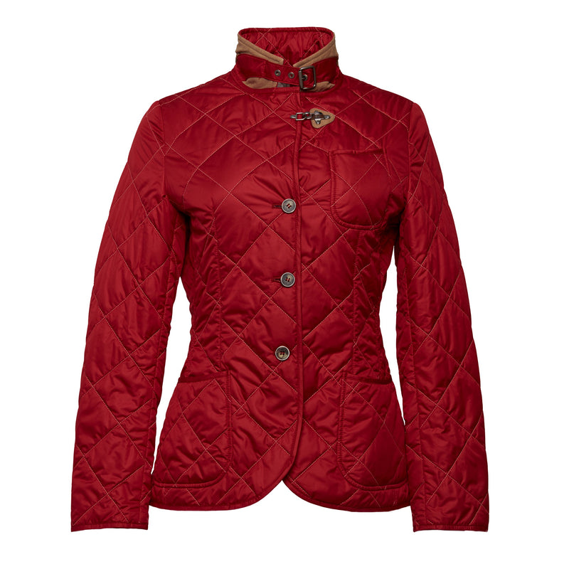 Chloe Quilted Jacket in Red