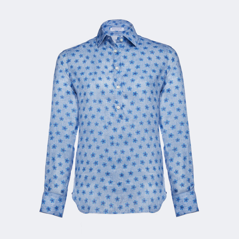 Dina Blue Floral Shirt