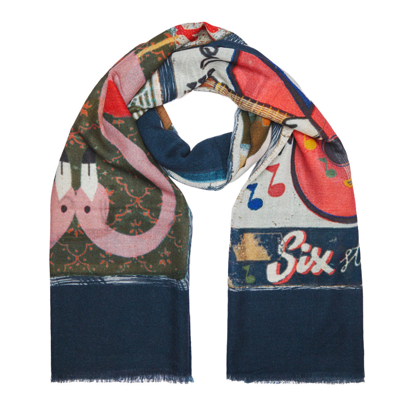 Scarf Pop Navy