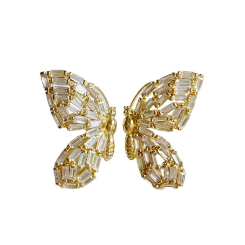 Embellished Butterfly Studs