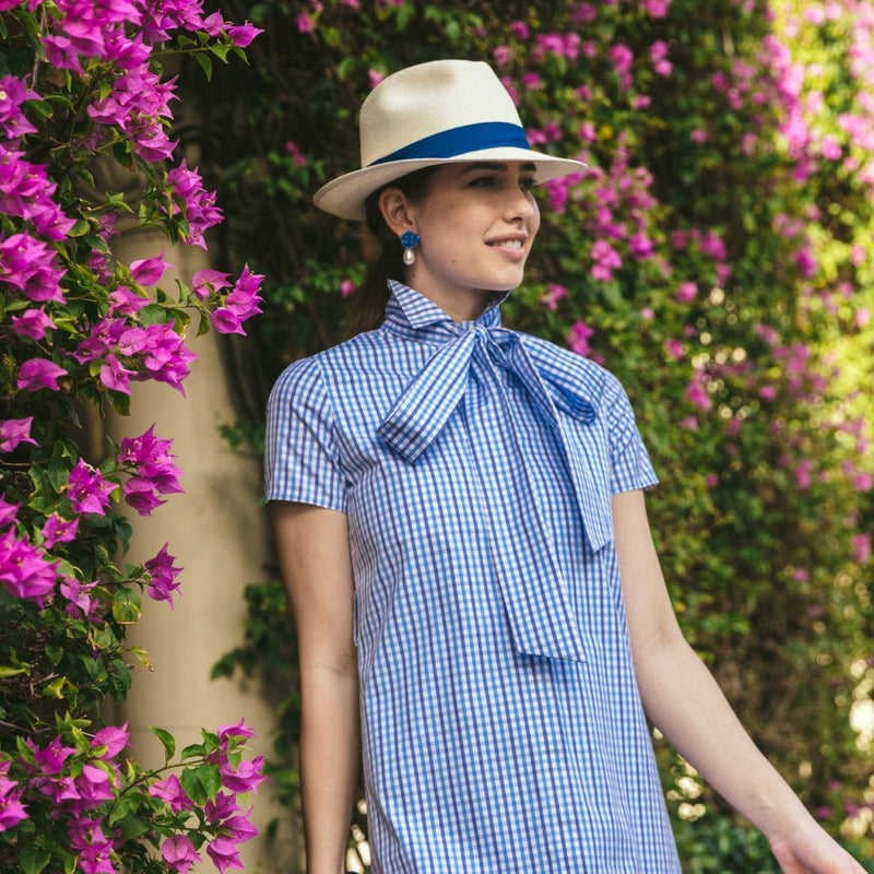 Kate Dress in Navy Gingham