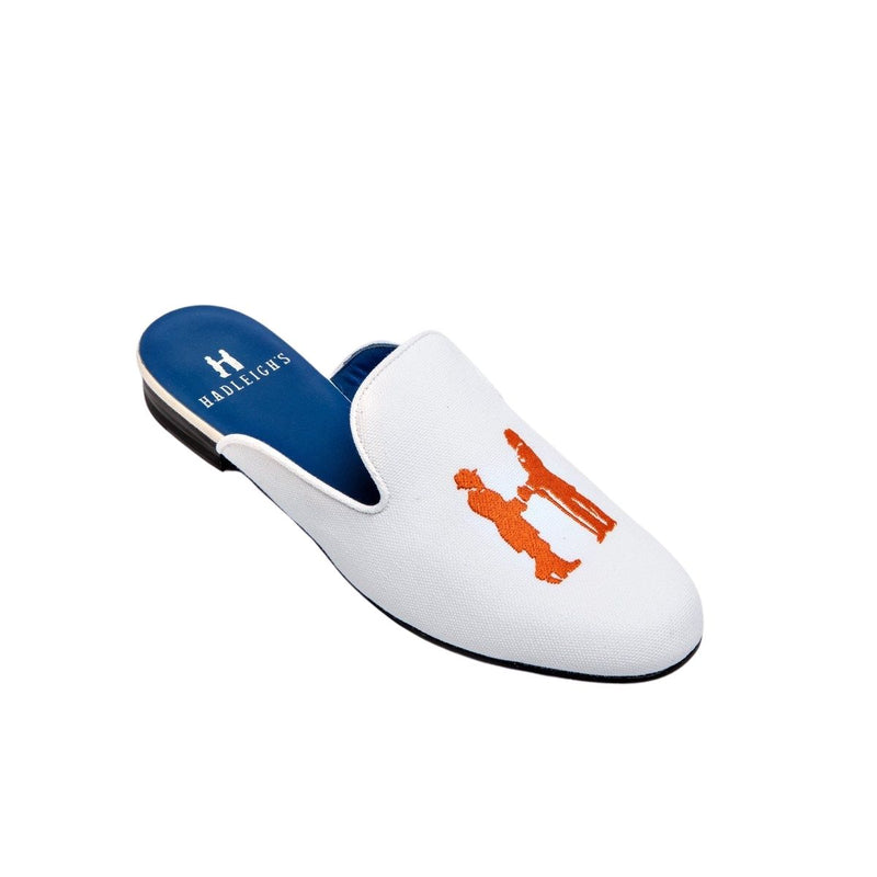 Mule in White with Orange