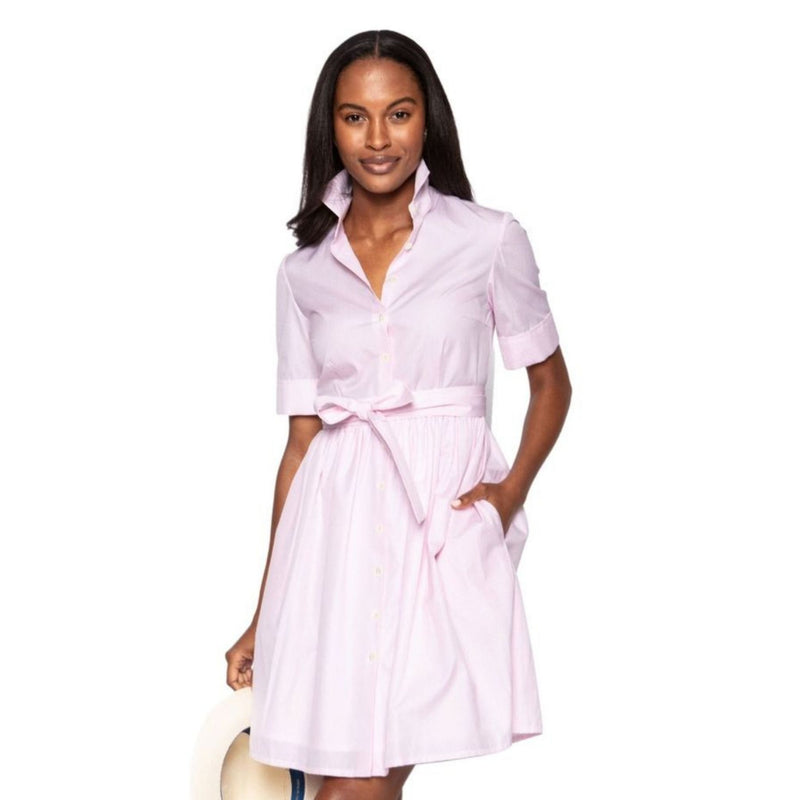 Coupe Dress in Pink & White Check