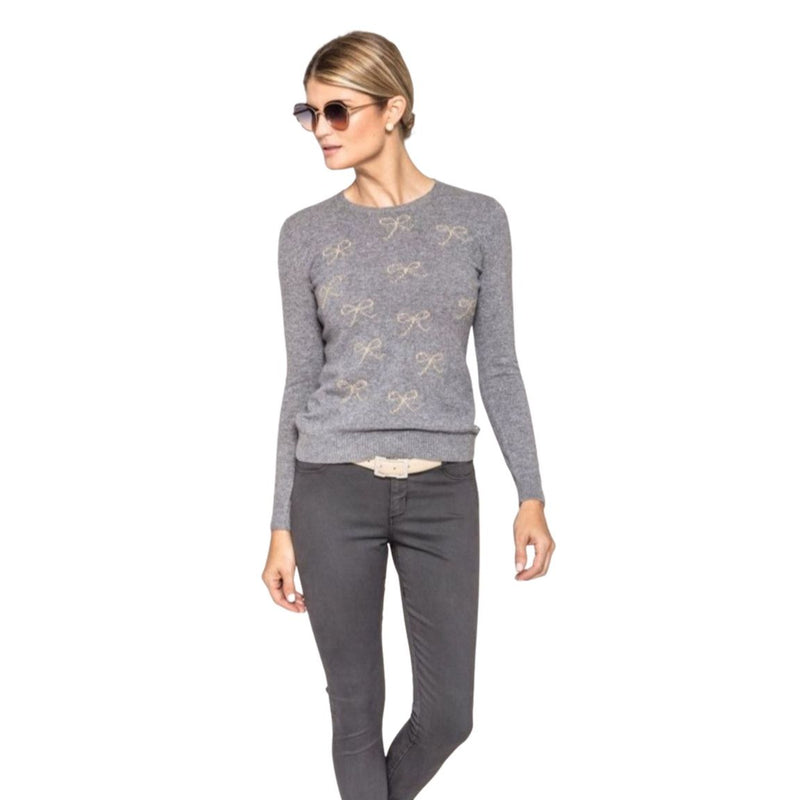 Felicity Sweater with Beige Bows