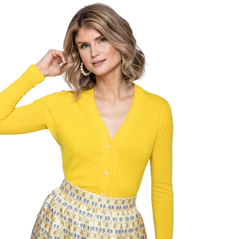 Lisa Cardigan in Yellow