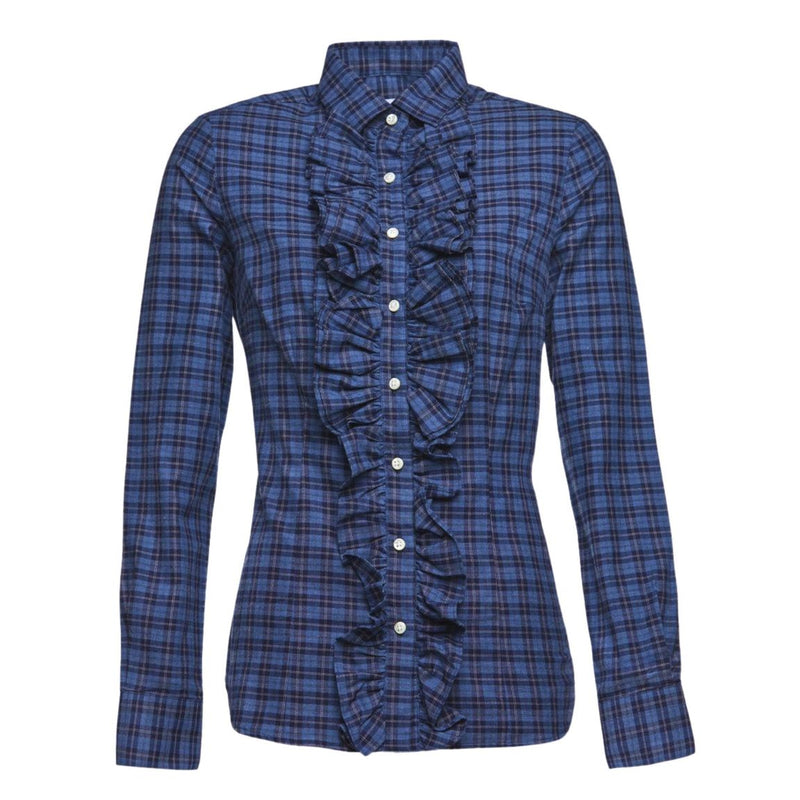 Belinda Blouse in Blue Check