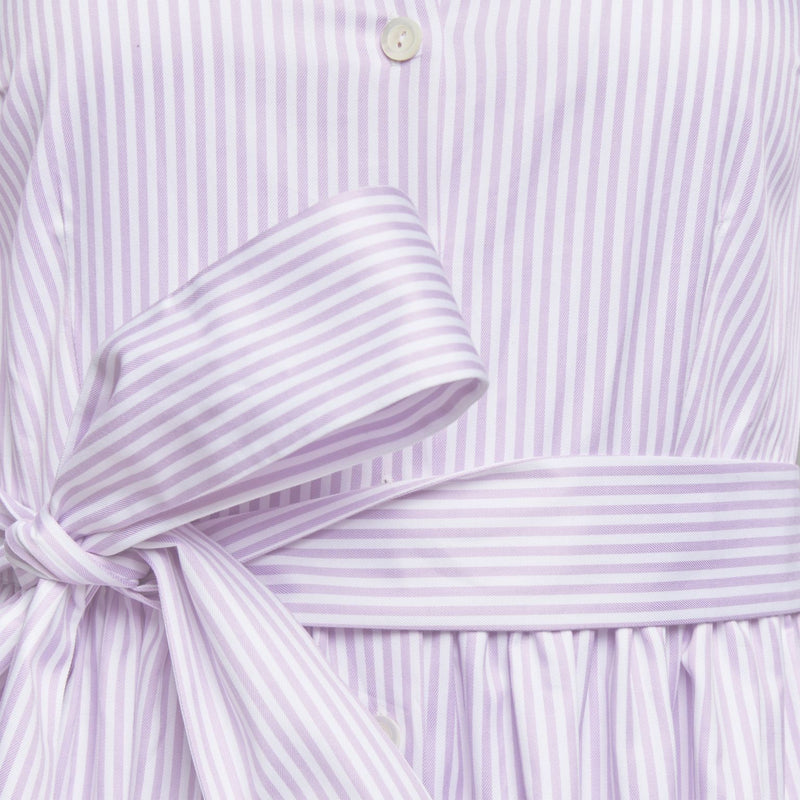 Coupe Dress in Blue and Purple Stripes