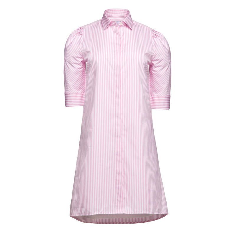 Tracy Dress in Pink Stripe