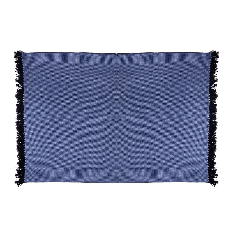 Cashmere Throw in Blue