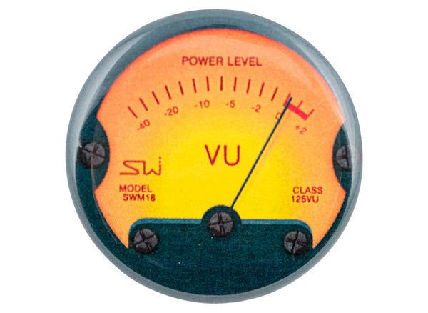 Analog VU Meter Button