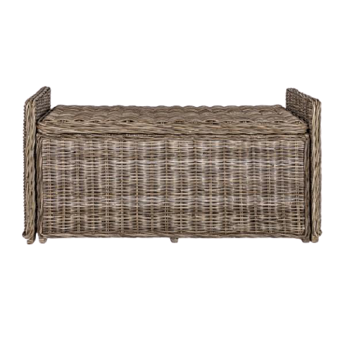 "Naples 47.50"" Wicker Trunk Storage Bench"