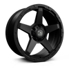 HAWKE WHEELS Eiger, 20 x 9 inch , 6-139 PCD, ET20,Matt Black, Set of four