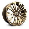 HAWKE WHEELS Halcyon, 23 x 9.5 inch , 5-120 PCD, ET38,  Light Gold, Set of four