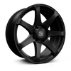 HAWKE WHEELS Peak, 20 x 9 inch , 6-139 PCD, ET30,Matt Black, Set of four