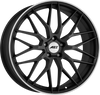 AEZ - Crest Dark 8.0x18 (Gunmetal Matt / Polished Lip) 5x108 PCD, Set of four