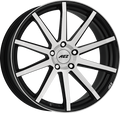 AEZ - Straight 8.0x18 (Black / Polished) 5x100 PCD, Set of four