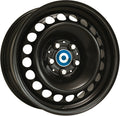 Alcar Stahlrad - Steel Wheel 6.0x15 (Black / Silver) 5x114.3 PCD, Single