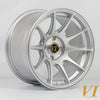 6Performance BDR, 15 x 8.25 inch, 4x100 PCD, ET0, Silver, Set of four