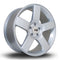 356 Wheels Kudos, 20 x 8.5 inch, 5x120 PCD, ET40, Silver, Set of Four