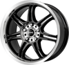 MOMO - RPM Evo 6.5x15 (Black / Polished) 4x108 PCD, Set of four