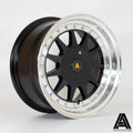 Autostar Raider, 15 x 7.5 inch, 4x108~4x100 PCD, ET20, RLBlack, Set of Four