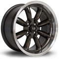 Rota RBR, 16 x 8 inch, 4100 PCD, ET10, RLGunmetal, Set of Four
