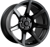 7Twenty Style 55, 18 x 10.5 inch, 5114.3 PCD, ET5, Set of Four, Satin Black