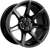 7Twenty Style 55, 18 x 9.5 inch, 5114.3 PCD, ET15, Set of Four, Satin Black