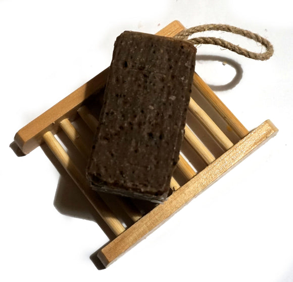 SMALL Creamy Coffee Soap On A Rope 70G