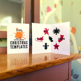 Wooden Christmas Craft Templates (Set #2): Pack of 7