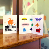 Wooden Mini Bug Craft Templates: Pack of 9
