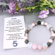 Load image into Gallery viewer, Mother's Day Poem for Mom Rose Quartz Bracelet