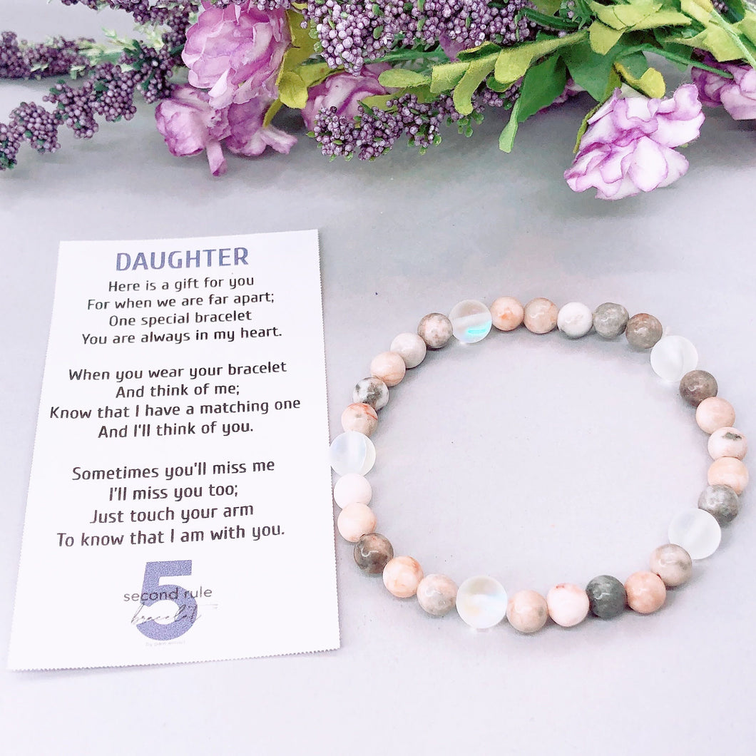 Mother's Day Poem for Daughter 5 Second Rule Companion Bracelet