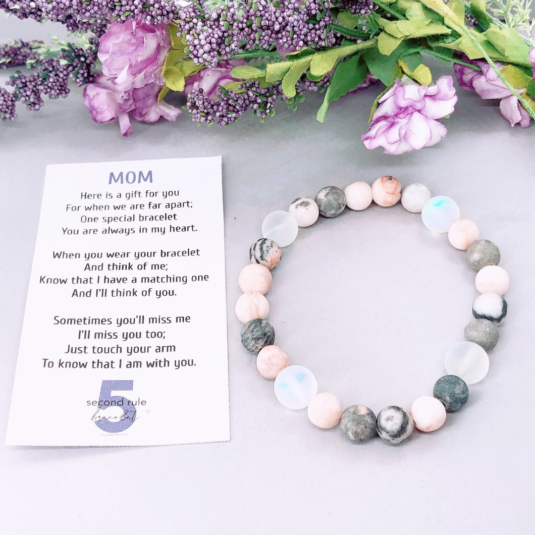 Mother's Day Poem for Mom 5 Second Rule Bracelet