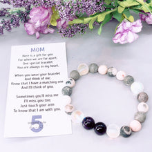 Load image into Gallery viewer, Mother's Day Poem for Mom Amethyst Bracelet