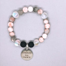 Load image into Gallery viewer, Strength is a Choice Charm Bracelet