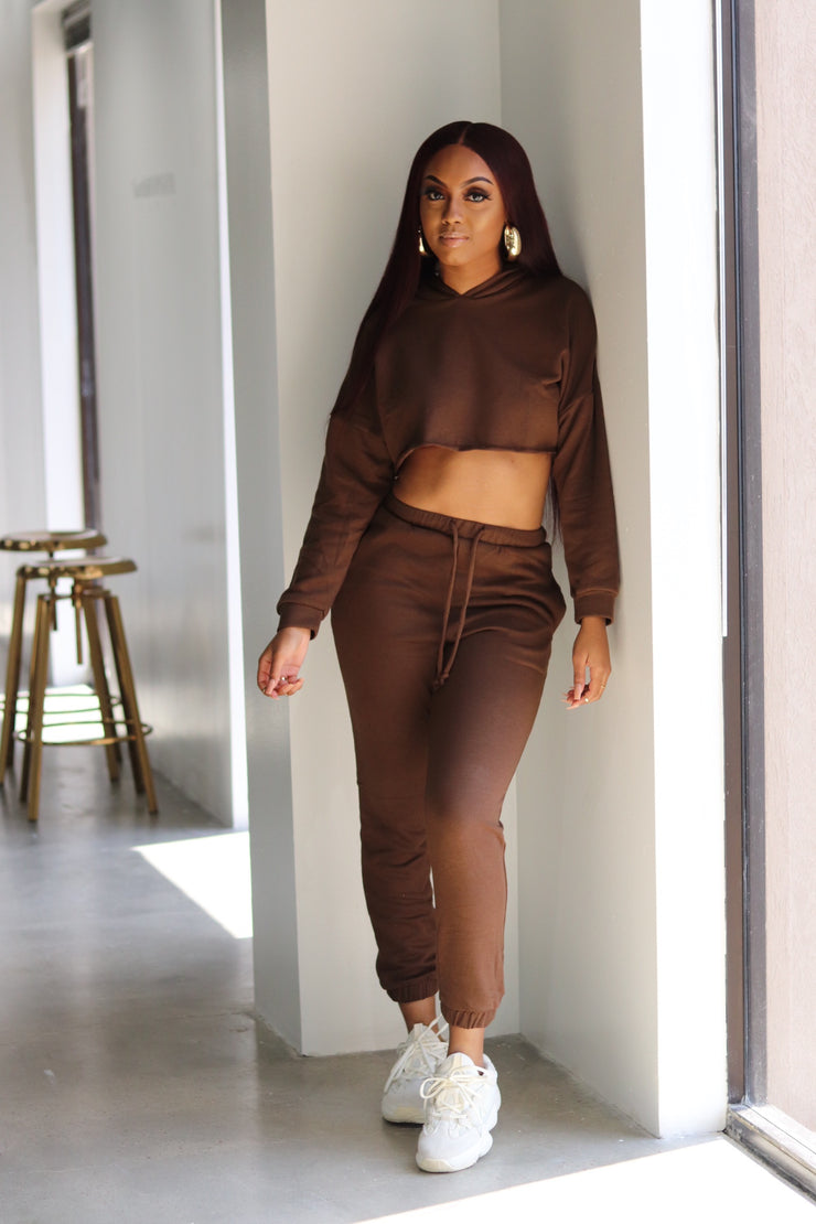 COCOA CROP JOGGER SET