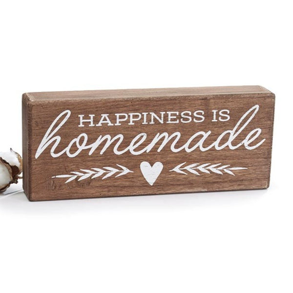 Happiness Is Homemade Box Sign