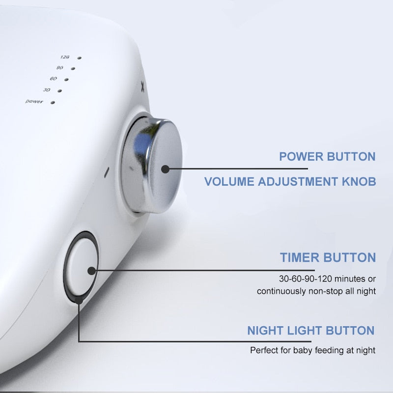 Portable White Noise Sleep Machine Therapy